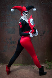 BANG! [Harley Quinn Bruce Timm Style] by FaerieBlossom