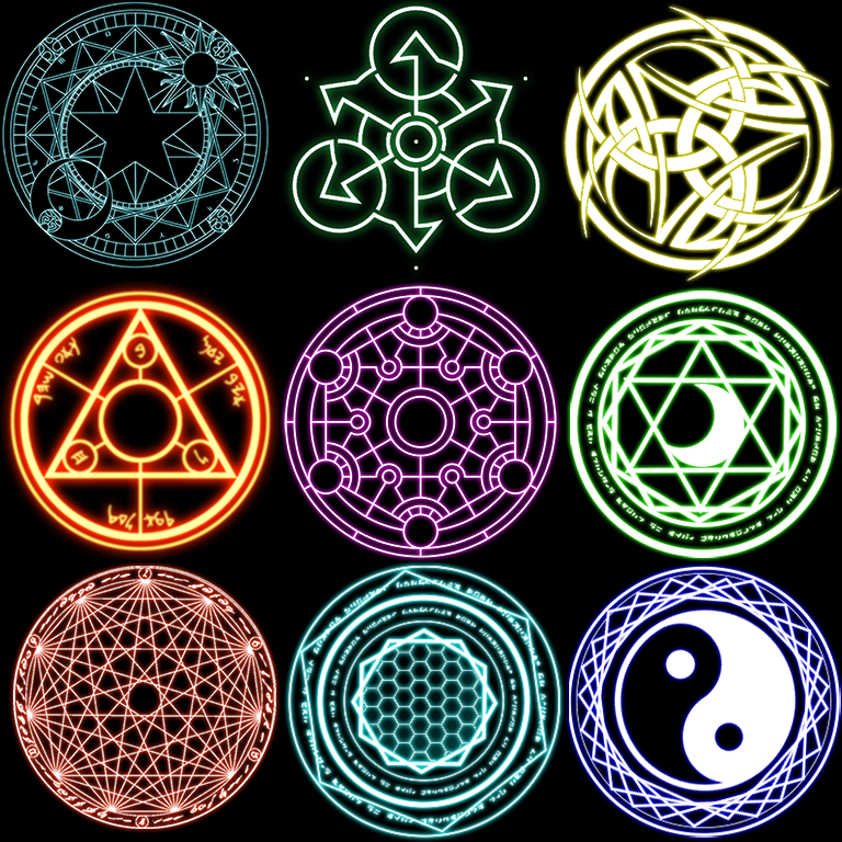 Magic Circle Collection by maskedkiller01 on DeviantArt