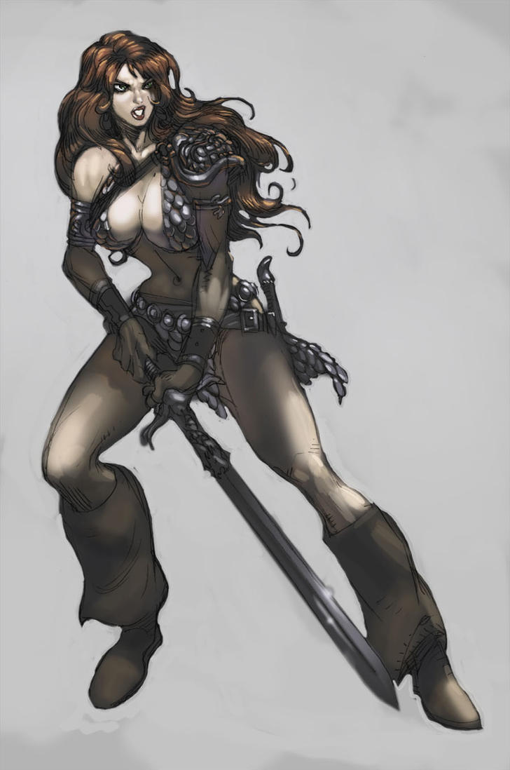 red sonja  white by kirbynasty