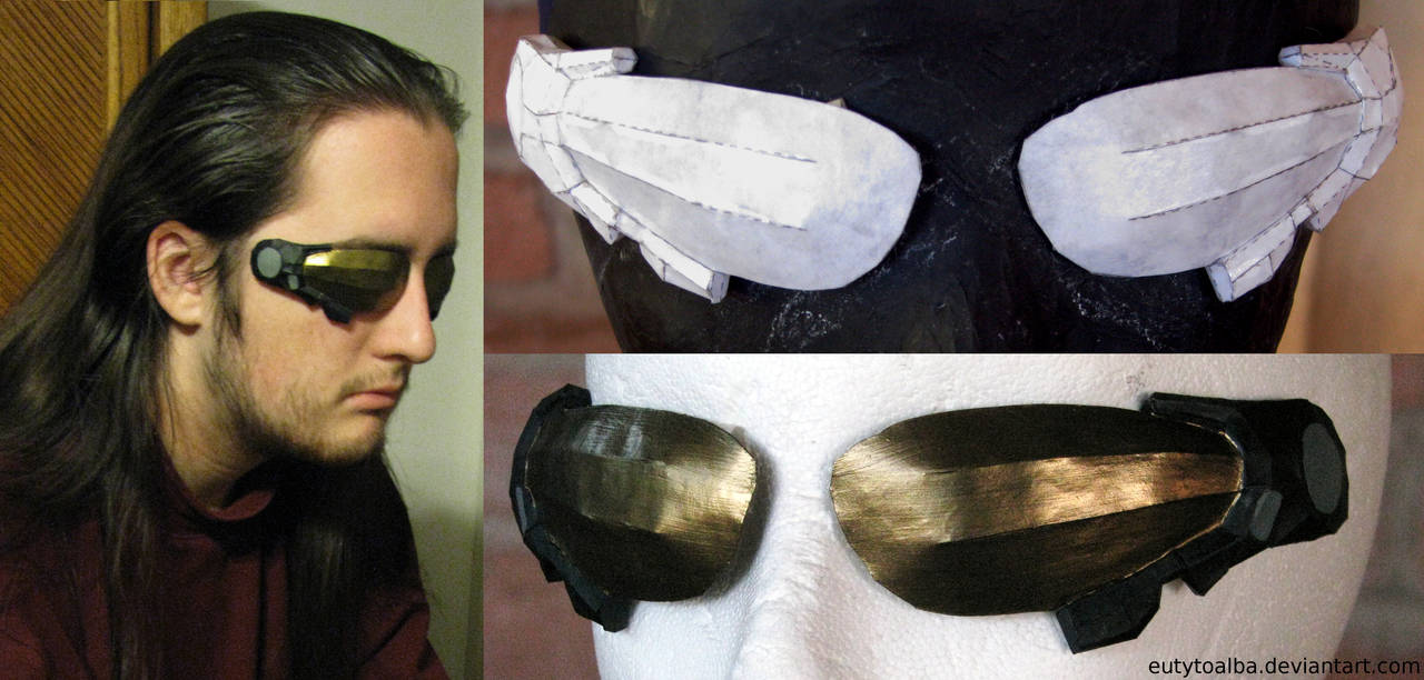 Deus Ex HR Glasses Papercraft Build by EuTytoAlba