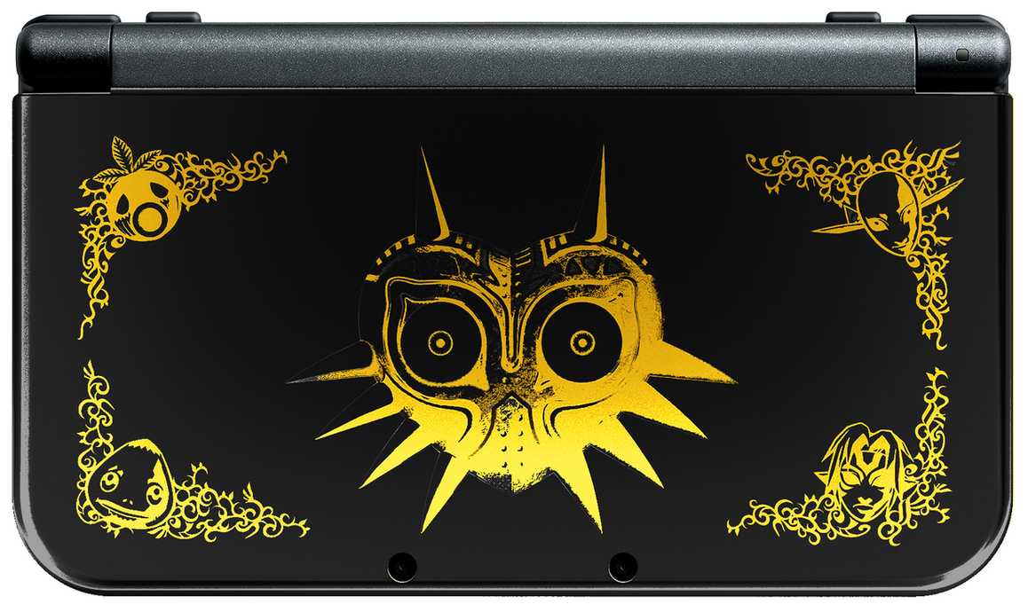 new 3ds xl majora s mask edition black by eutytoalba on deviantart