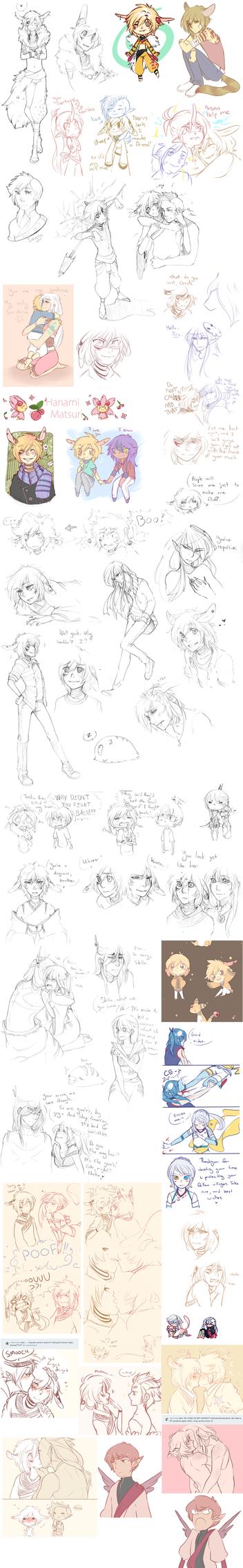 Pokimono Sketch dump 4 by loverofscythe