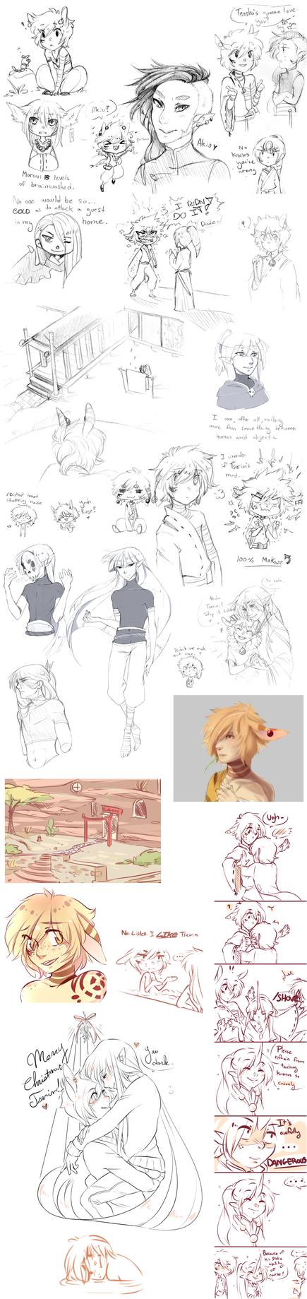 Pokimono Sketch Dump 8 by loverofscythe