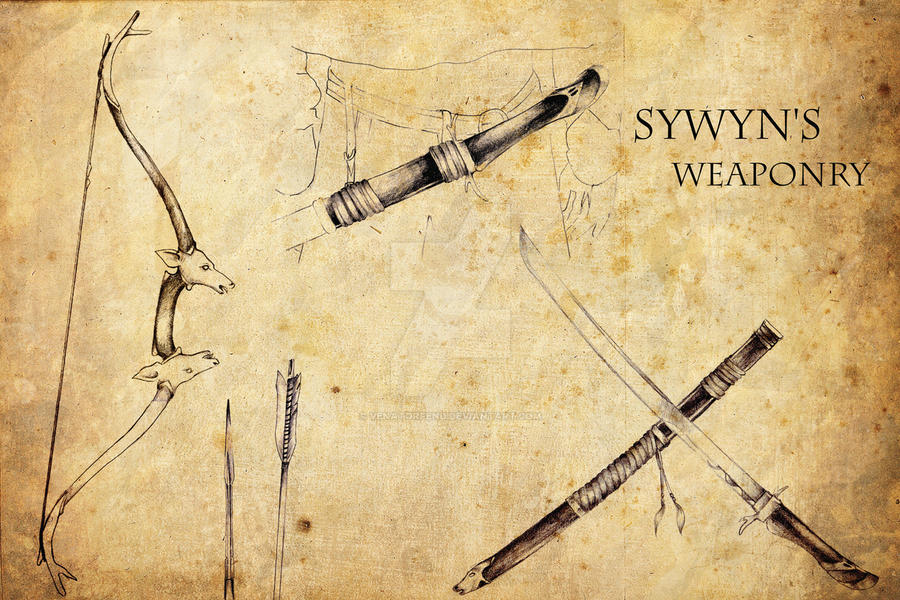 Sywyn's weaponry by venatorfend