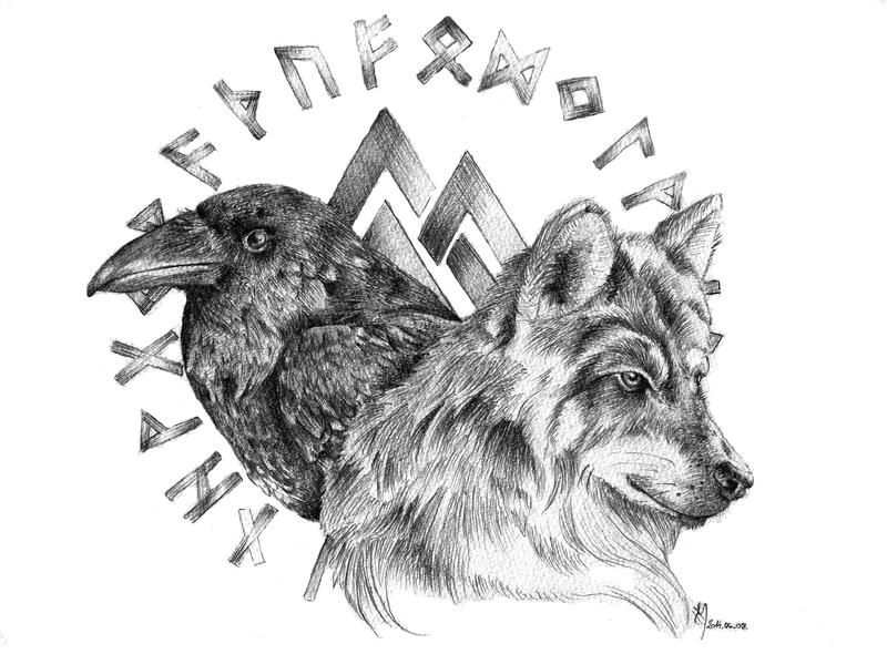 Wolf and Raven by venatorfend