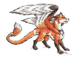 Foxy's dragon form - NEW by xRashana