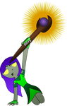 Undead Priest and Staff Vector by xsherbearx
