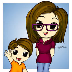 Chibi Version of Son and I by xsherbearx