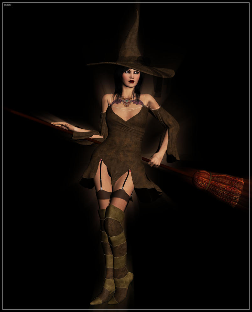Pinup Witch 2 by regansart