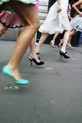 Running on spike heels