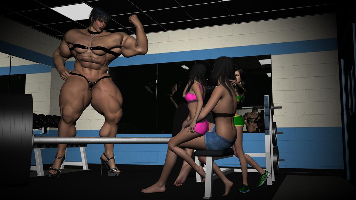 Aefroch Gym Showing Off 1 by SteveBlazer