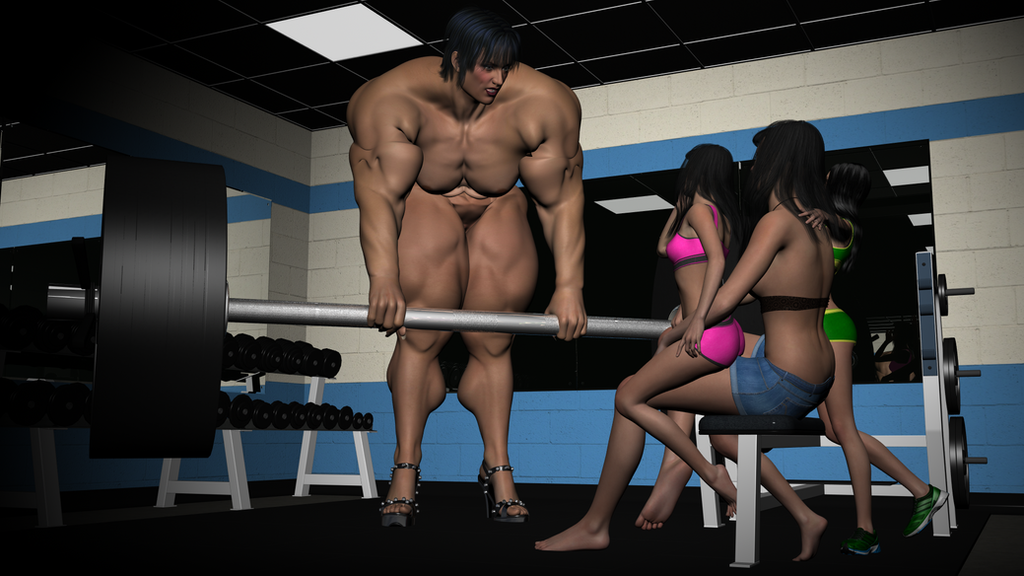 Aefroch Gym Showing Off 4 by SteveBlazer