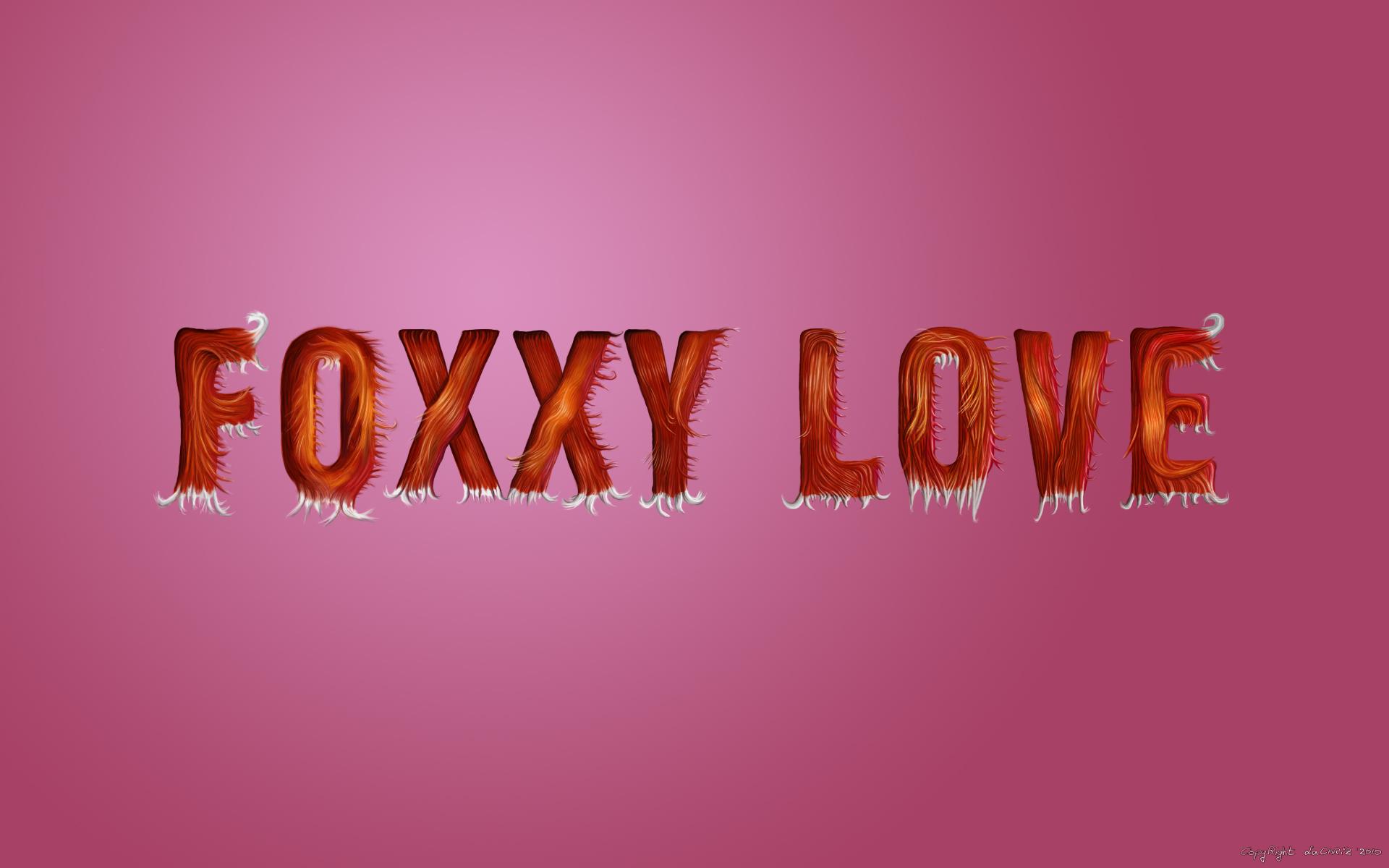 Foxxy Love - Fur Letters by LaChRiZ on DeviantArt