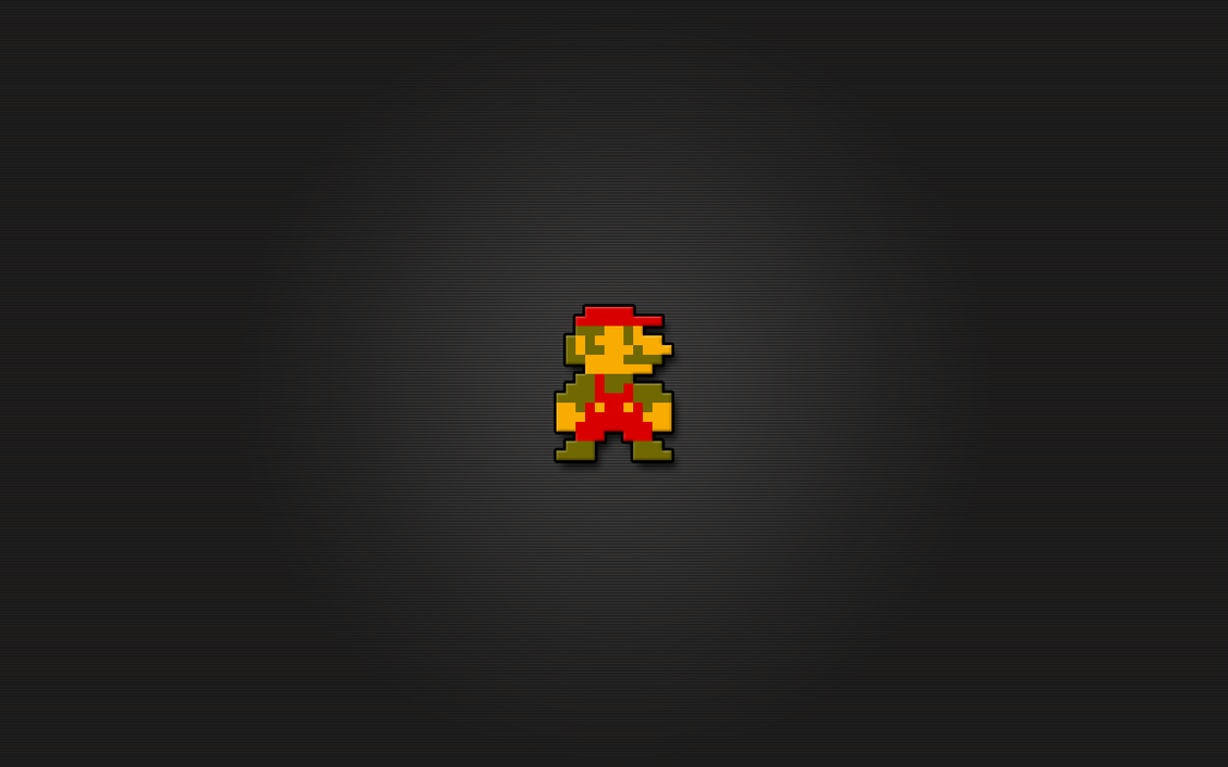 Super Mario 8bit Wallpaper by LaChRiZ