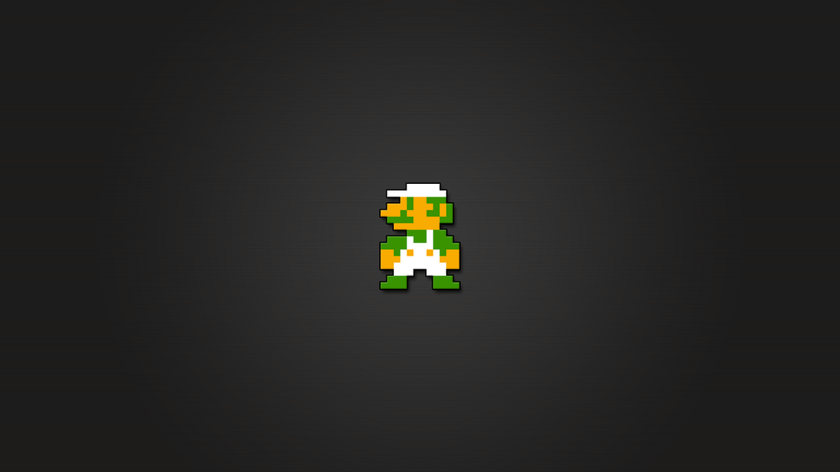 Luigi 8bit Wallpaper HD by LaChRiZ