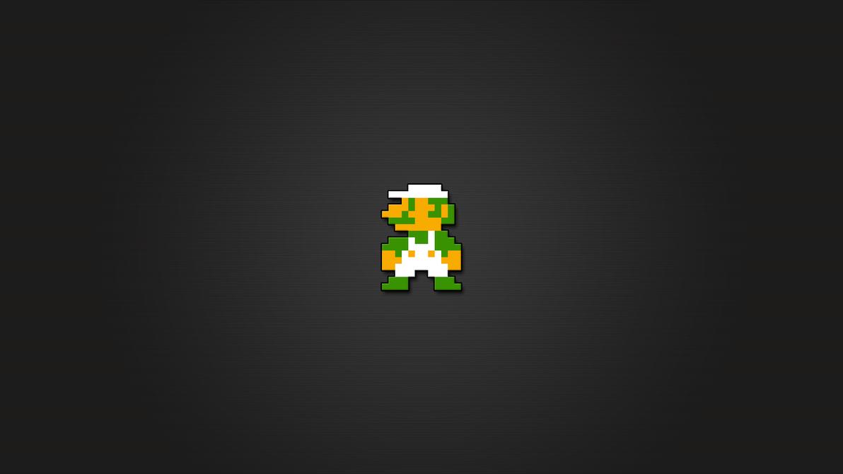 Luigi 8bit Wallpaper HD by LaChRiZ