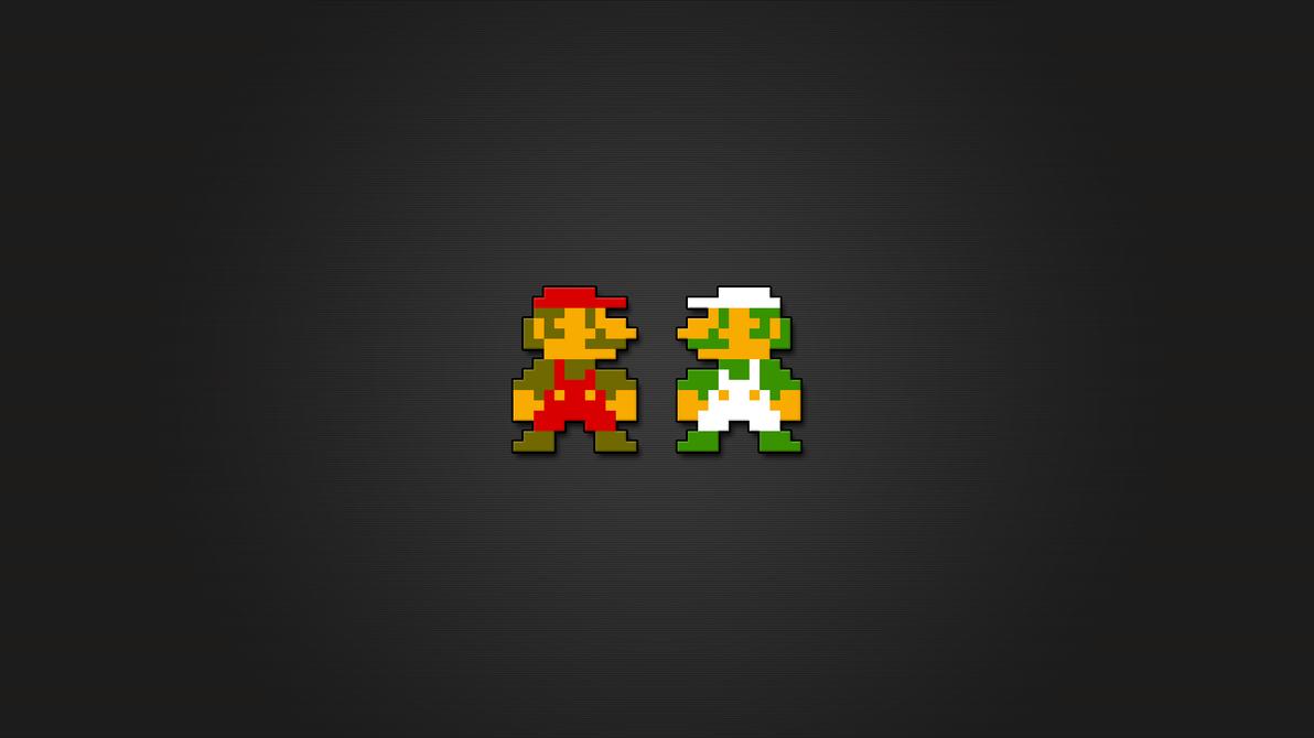 Super Mario and Luigi 8bit HD by LaChRiZ