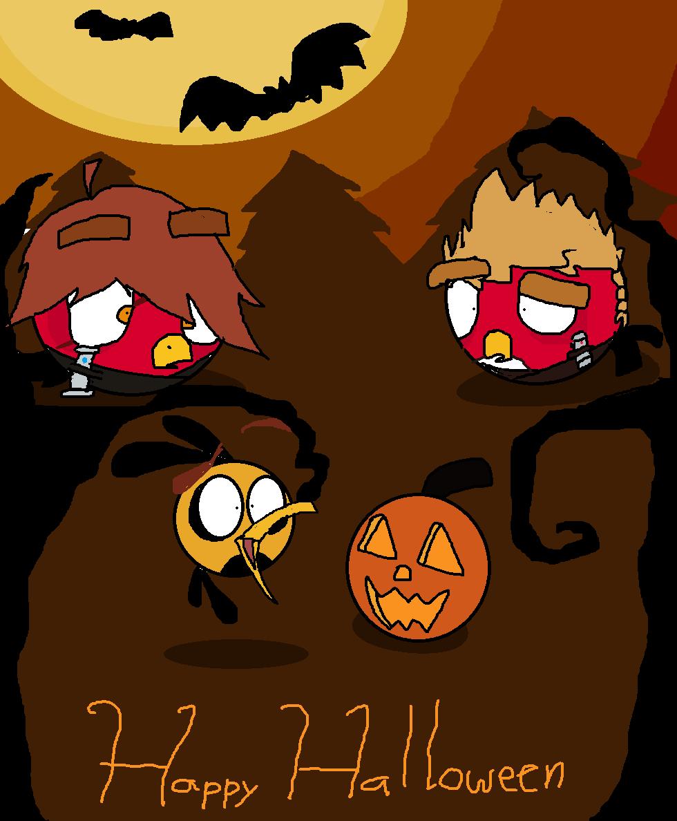 Angry BirdsStar WarsHappy Halloween by NightwishLunaCZ on