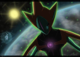 Meeting with Deoxys by Eclipse4d