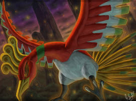 Ho-oh: Heart Gold by Eclipse4d