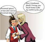 Ace attorney: personal space