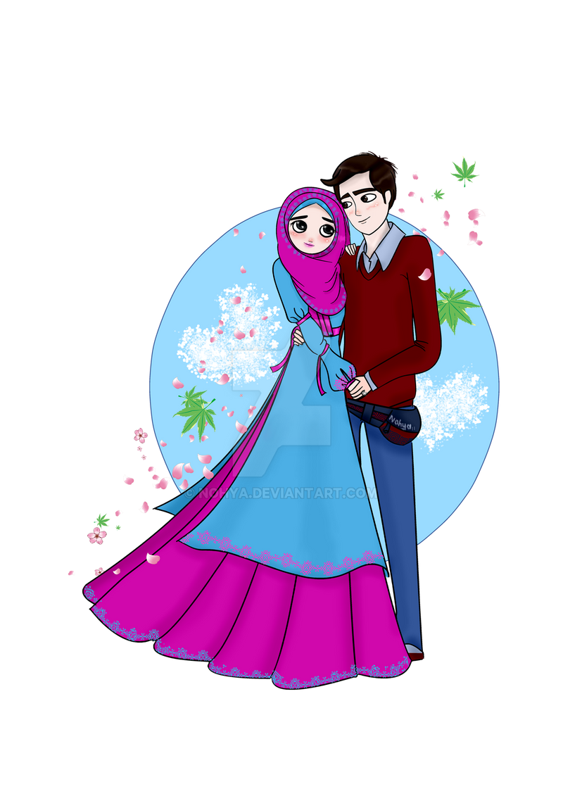 Gambar 67 anime islamic images pinterest islam muslim halal couple