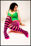 Carly Stripey tights - 2 -