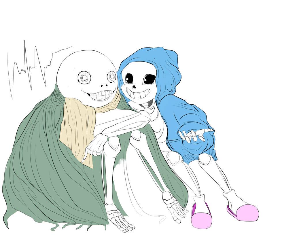 Being Skeletal Ain't Easy (Nier + Undertale) [WIP] by gwiazdala on