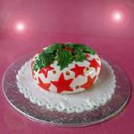 seasonal mini cake - holly