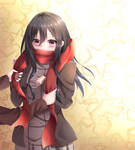 Mikasa-Thanks for the scarf by Josiah23Art
