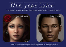 One Year Later Meme (2011 vs 2012) by DragonReine