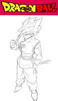DBDC Goku Fan art sketch