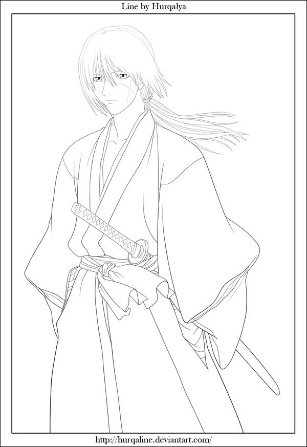 Himura Kenshin Line by Hurqaline