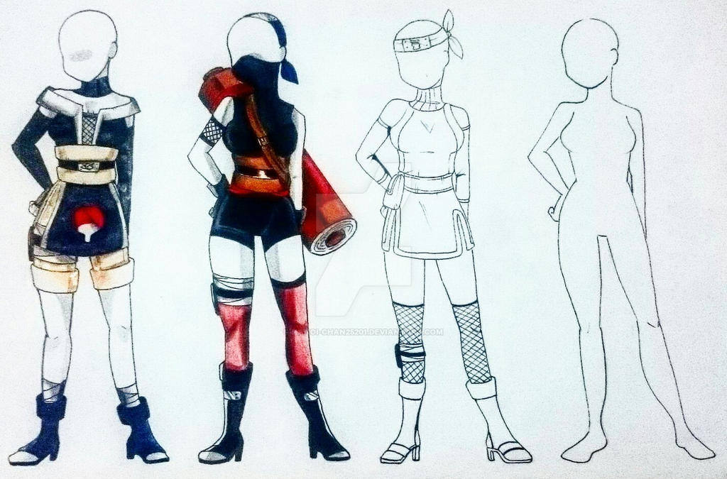 [NYP] NARUTO Outfits Adopts || OPEN (1/4) by Hanoi25201