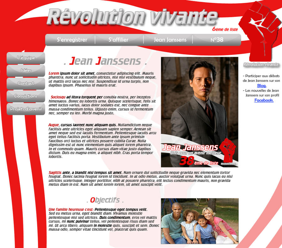 Fictional website 4 politician by ~LJ-Webdesign on deviantART