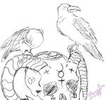 Lucifer's Little Helpers(Sketch) by braelia