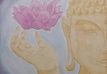 Giving Buddha by braelia