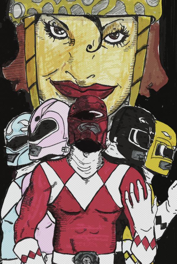 The Power Rangers by cheshirecatart