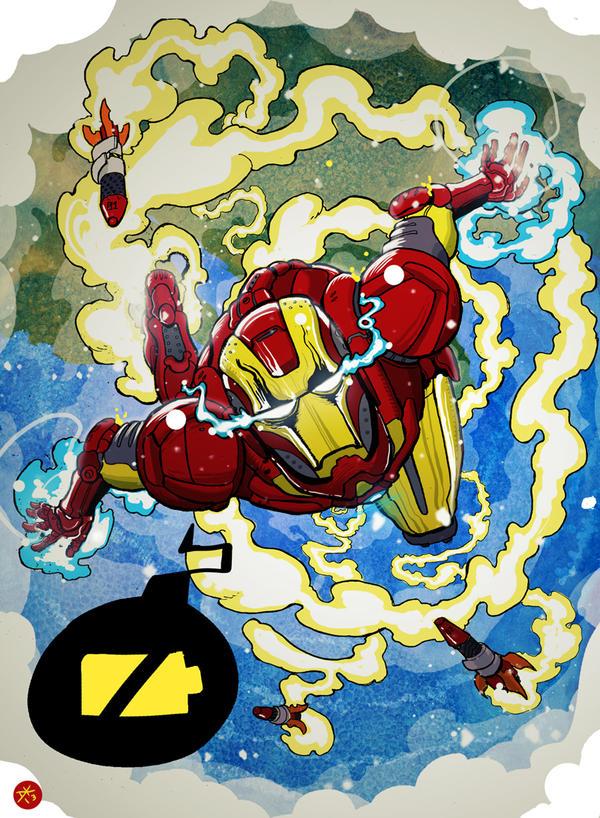 Iron Man by cheshirecatart