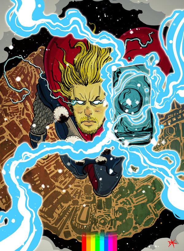 Thor by cheshirecatart