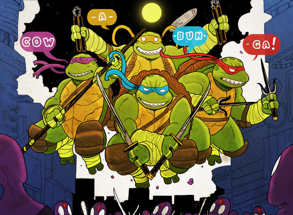 Teenage Mutant Ninja Turtles! by cheshirecatart