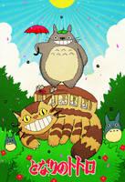 My Neighbor Totoro by cheshirecatart