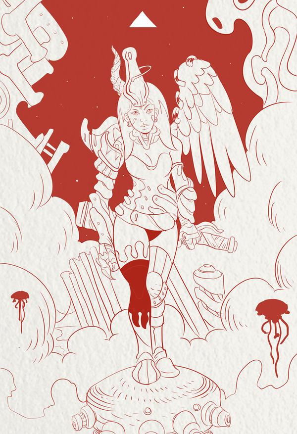 Demon Girl by cheshirecatart