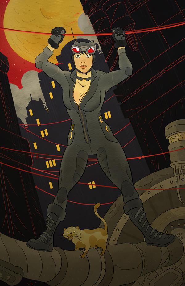 Catwoman by cheshirecatart