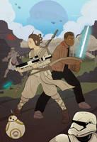 Star Wars Episode The Force Awakens by cheshirecatart