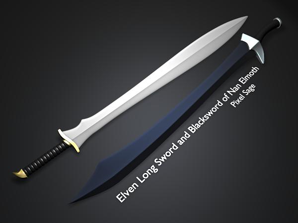 ElvenLongSword and Blacksword by Pixel-Sage