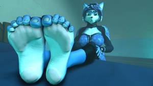 Krystal Feet Teasing Confused