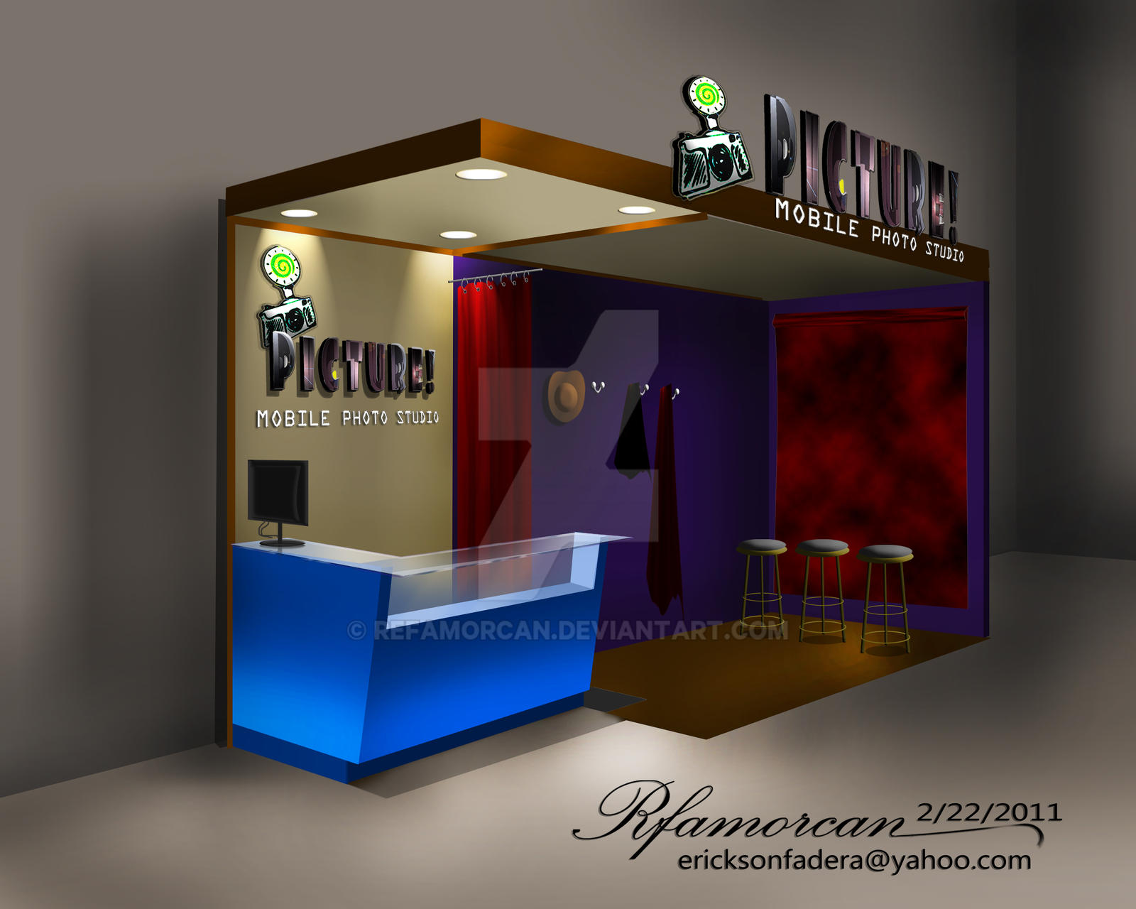Lovely ... Photo Booth Design [interior] By Refamorcan