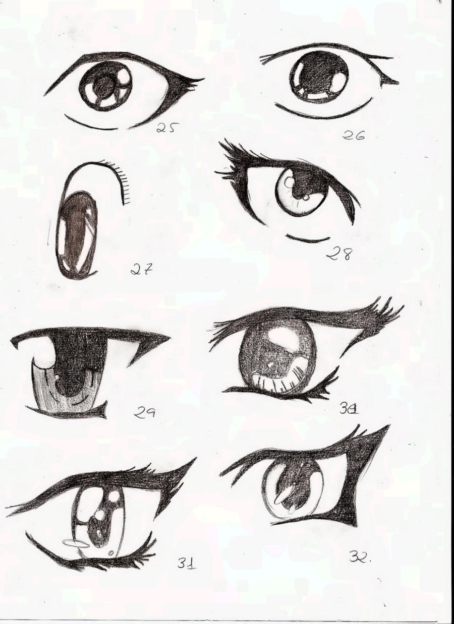 how to draw eyes more symetrical