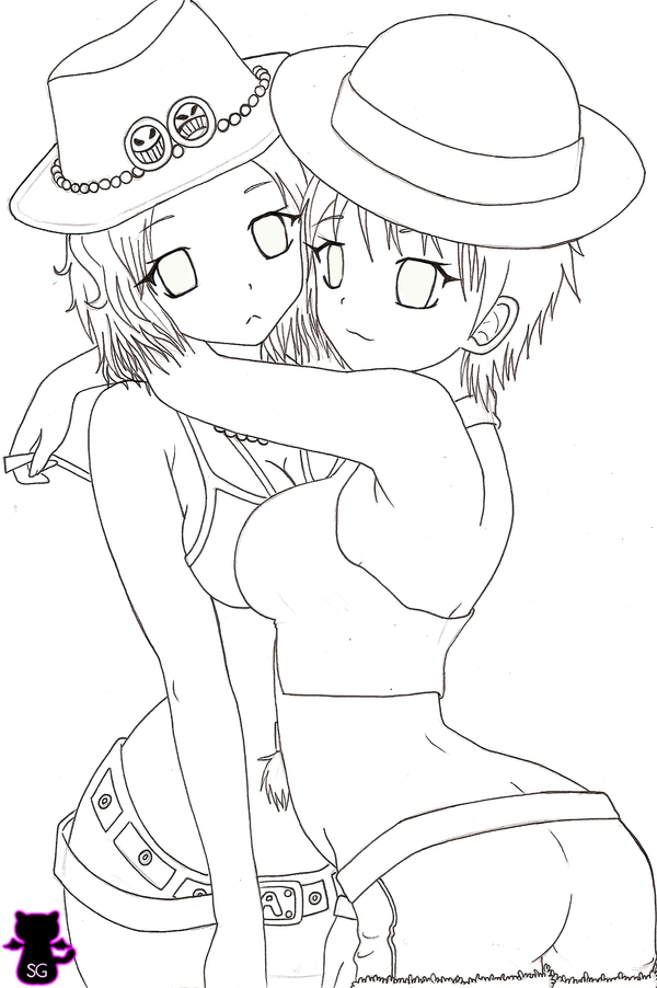 Commision:Ace-Luffy girls by Capolecos on DeviantArt